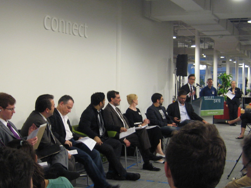Panel of experts at eBay office