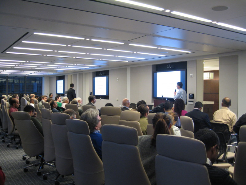 Attendees at TiE meetup