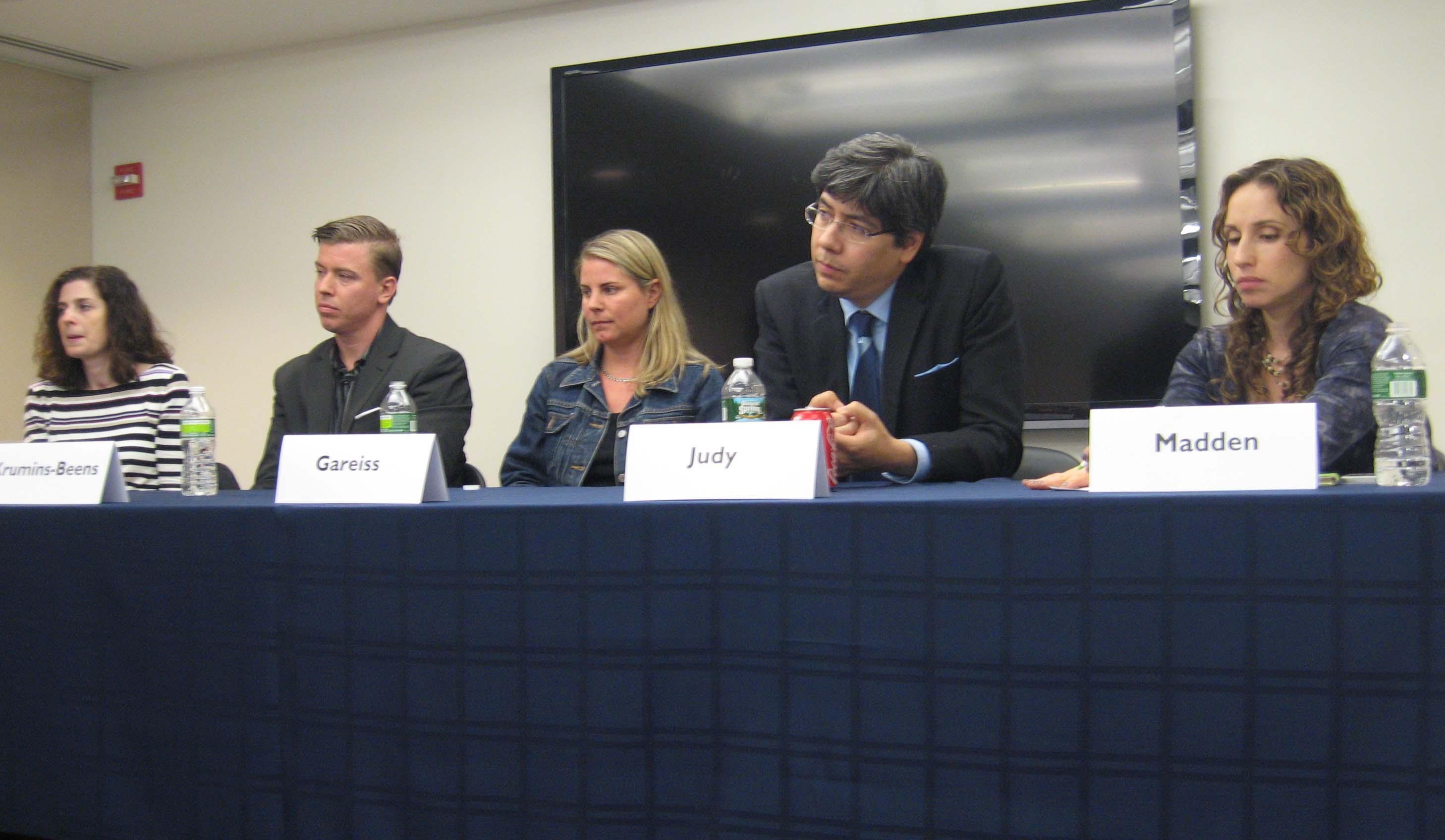NY Intrapreneur's panel of speakers